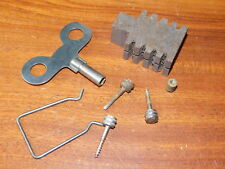 LOT PIECES CARILLON clé VIS key screw HORLOGE romanet MORBIER westminster CLOCK