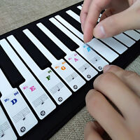Removable Piano and Keyboard Stickers for 49 61 76 88 Transparent S