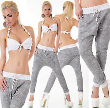 Women's Button Drawstring Harem Baggy Dance Hip-Hop Pant - OSFM (S/M/L)