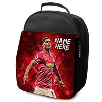 RASHFORD Lunch Bag Man Utd School Insulated Boys Football Personalised NL11