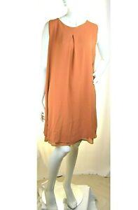 Vestito Donna Abito Leggero al Ginocchio RISSKIO Italy LU424 Arancione Tg L
