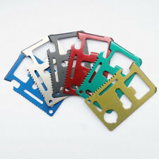 Survival Kit Pocket Credit Card Knife Colorful 11 in 1 Multi Tool Army Hunting