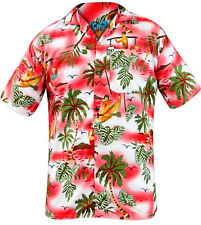 True Face Men Hawaiian Shirt Man Red 4xl
