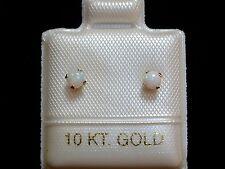 Feinste Opal Ohrstecker - 3 mm - 10 Kt. Gold - 417 - Cabochon Schliff - Ohrringe