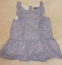 EUC Baby Gap Blue Leopard Print Dress Size 6-12 6 12 Months