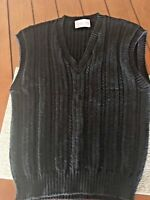 PENDLETON Wool Women's Petite Cardigan Sweater Vest Navy Blue Medium 6-8 bx84