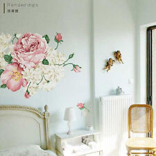 Large Peony Flowers Vinyl Wall Stickers Art Decals Wallpaper Home Decor Mural