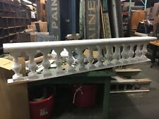 c1940 wooden roof top balustrade turned urn spindles 85.5 x 15.5 x 8
