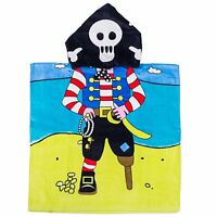 "Kreative Kids 100% Cotton PIRATE Hooded Poncho Towel 24"" x 48"""