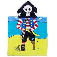 "Kreative Kids 100% Cotton PIRATE Hooded Poncho Towel 24"" x 48"""
