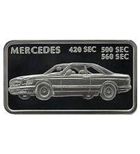 Silberbarren 1 oz Motivbarren Mercedes 420-560 SEC (Feinsilber 31,1 g)