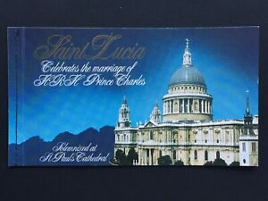 1981 St LUCIA ROYAL WEDDING STAMP BOOKLET - COMPLETE WITH STAMPS - (517)