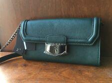 Vera Wang Simply Vera Green Faux Leather Crossbody Wallet Organizer