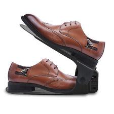 10X Verstellbarer Schuhstapler Schuhregal Schuhhalter Organizer Schuh Schwarz
