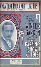 "Ernest Hare ""PASSING SHOW OF 1912"" Louis A. Hirsch 1912 Broadway Sheet Music"