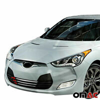 Chrome Front Bumper Grille Cover Trim S. Steel for Hyundai Veloster 2011-2017