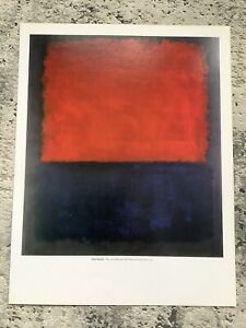 Mark Rothko PRINT Expressionism Modern Abstract Art 2003 Red Over Dark Blue Gray