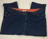 Coldwater Creek Size W18 Blue Jeans Capris Women Zip Plus