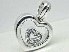 Genuine Pandora Floating Heart Locket 792111CZ Small With Gift Pouch