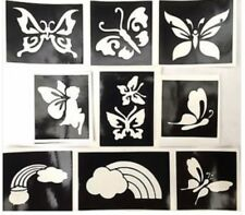 Mariposas 🌈 stencils x 9 Recarga Kit de Tatuaje Brillo Ur Cara Pintura Airbrus