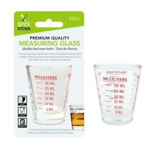 Liquid Measuring Shot Glass Cup Tool Kitchen Bar Pitcher Measure Espresso 30ml