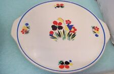 Vintage Cake Serving Plate Platter Universal Potteries Cambridge Flowers