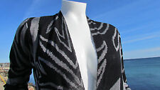 NEW 14/16 zebra jacquard duster Lane Bryant shimmery black silver sexy $79.95 XL