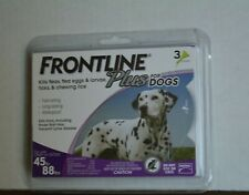 FRONTLINE PLUS FOR DOGS KILLS FLEAS, -LARVAE-TICKS ( 3 MONTHS ) NEW AND SEALED