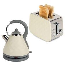 Set Of 2 Salter 2-Slice Cream Toaster And Kettle Diamond Vintage Retro Style New