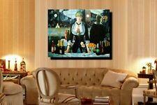 """Edouard Manet Replica Oil - Le Bar aux Folies-Bergère  - size 36""""x24"""""""