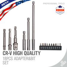 "Socket Bit Adapter Magnetic Bit Extensions Holder Drill Nut Driver 1/4"" 3/8"" 1/2"
