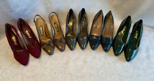 5 Vintage Pairs 7.5 N Dress Shoes High Heels Joyce & Pappagallo Nos #4