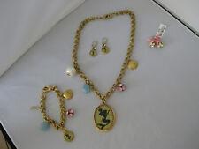 Disney Parks Ariel Necklace Bracelet 2 Pairs Pierced Earrings Set by John Wind