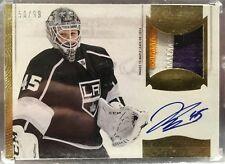13 14 Panini Dominion Jonathan Bernier Patch Auto 50/99 Purple Gold 3 Color NICE