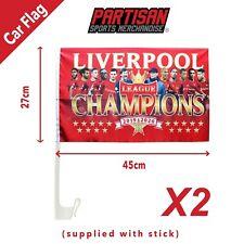 2 X 2019/2020 coche bandera de campeones de liga de Liverpool Regalo Souvenir (palo incluido)