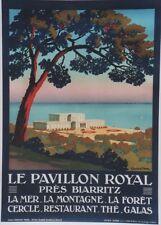 """""""LE PAVILLON ROYAL près BIARRITZ"""" Affiche origin. litho entoilée CONSTANT-DUVAL"""