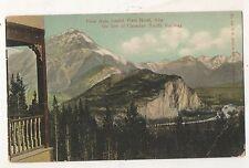 CPR Grand View Hotel Vieew, Vintage Alberta Canada Railway View Postcard