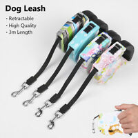 Training Traction Rope Retractable Dog Leash Lead For Small Medium Dogs Cats