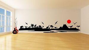 DINOSAUR LANDSCAPE Wall Art Sticker, Decal, Mural, in 5 x sizes. Improved Design