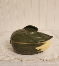 Vtg Shawnee Corn King Small Covered Casserole Dish/#73 Oven Proof- Made In Usa