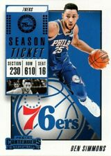 2018/19 PANINI CONTENDER SEASON TICKET BEN SIMMONS #15 BASKETBALL CARD