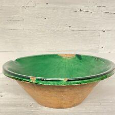 19th Century French Tian Green Glazed Bowl