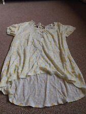 Womens Fat Face Pineapple Top T-Shirt Blouse 100% Linen Summer Size 14 NEW!