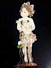 "Masterpiece Gallery Sandra Babin LE 1000 Cherub 21"" FULL PORCELAIN Doll Flowers"