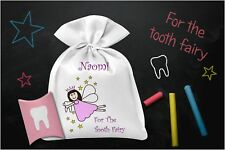 Tooth Fairy Bag & Free Tooth Pillow Box, Personalised, Boys, Girls