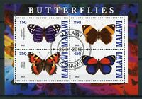 Malawi 2013 CTO Butterflies 4v M/S Butterfly Insects Stamps