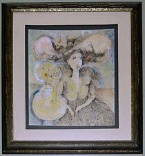 1977 Eduardo Muñoz Bachs Painting.CUBAN Museum Poster Art.Lovely Doll.Enchanting