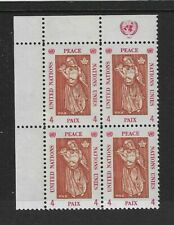 1967 United Nations - Expo'67 - Peace - Plate Block - Mint and Never Used.