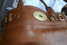 MULBERRY bag BAYSWATER OAK TAN LEATHER large TOTE WITH DUSTBAG