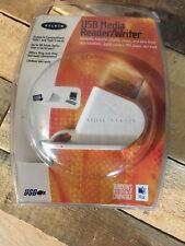 NEW & SEALED Belkin Media Card Reader/Writer F5U140 Supports Compactflash 1 & 2